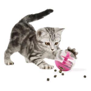 Jouet mobile pour l'alimentation des chats